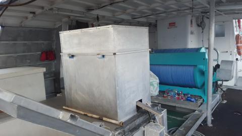 fahrentec ice machine on Tahitian boat