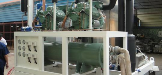 heavyduty 10ton flake ice machine in commissioning